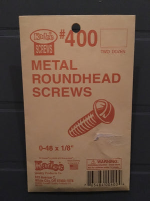 #400 Screws Metal 0-48 x 1/8in
