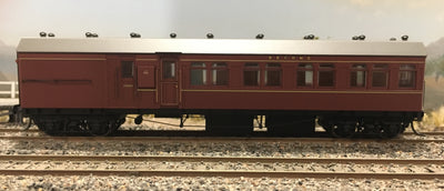 Casula Hobbies: RTR HR 995 Passenger Terminal Car, Indian Red (Single R Car)