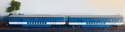 Casula Hobbies: RTR 1974 Sydney Electric Suburban Trailers: 2car blue/low white set T4820/T4833