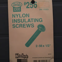 #256 Screws Insulated Nylon 2-56 x 1/2in