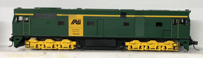 700Class 2nd Hand AUSTRAINS NSWR 704-Q AUSTRALIAN NATIONAL MODEL Green-yellow TEST RUN GOOD IN CONDITION