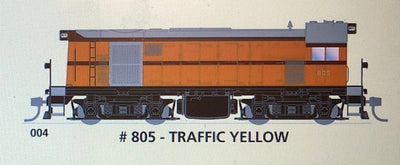 800 class SAR. SDS Models : 004 #805 TRAFFIC YELLOW Now in stock: Non Sound
