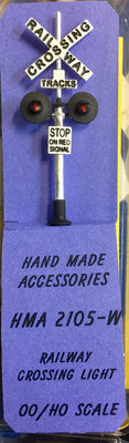 HMA 2105-W RAILWAY CROSSING LIGHT HO HAND MADE ACCESSORIES.