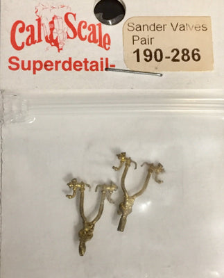CAL-SCALE 190-286 Sander Valves Pair  Brass Casting.