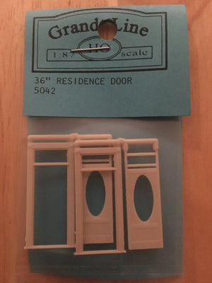 DOORS #5042 Residence Door w-Oval Window Door & Frame separate p