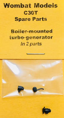 Parts: Wombat models C30T: Boiler-mounted  turbo-generator  In 2 parts