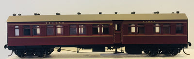 CR 1386 COMPOSITE 1st / 2nd Class Passenger Car in INDIAN RED FROM THE R Type Cars-  Casula Hobbies: RTR Models.