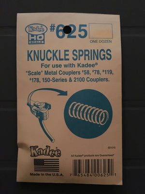 # 625 Knuckle Springs for #58, #78 & #2100 Coupler KADEE