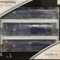 WGS03 ANNIVERSARY DISCOUNT SALE Southern Rail : WGSY AWB VIC & SA BROAD GAUGE GRAIN HOPPER DARK BLUE AS BUILT c. 2010 to CURRENT | 3 PACK,