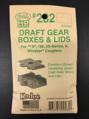 # 232 Plastic Draft Gearboxes & Lids (HO)