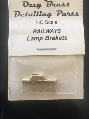 107 Lamp Brackets (Carriage) for marker lights. HO Ozzy Brass: #107