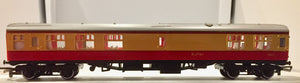2nd BRITISH HORNBY PASSENGER THIRD COACH 1805 RED & CREAM. GOOD CONDITION.  X020
