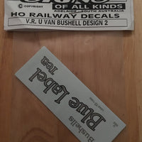 "U VAN SOAK #47 Decal Vic, Rail ""BUSHELL"" Design 2. HO"