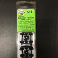 #511 Bettendorf T-Section bogie 33inch ribbed back wheels