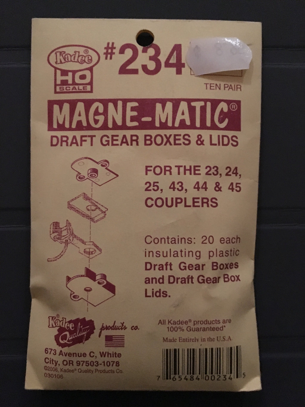 #234 Draft Gear Boxes and Lids for23, 24, 25, 43, 44, 45 Coupl