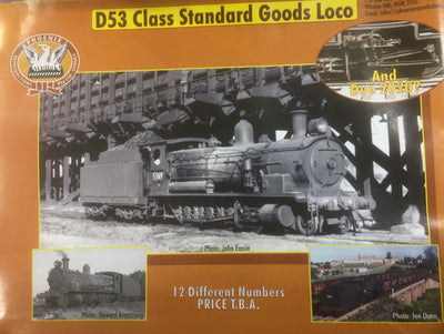 D53, Phoenix: D53 Class 2-8-0 N.S.W.G.R. STEAM LOCOMOTIVE COMING 2019/2020 ORDERS TAKEN BY PHONE NO DEPOSIT REQUIRED