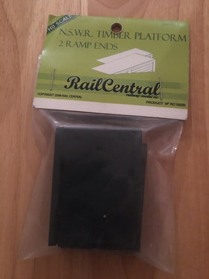 Rail Central: RC STATION PLATFORM RAMP ENDS (2) RRP $6.95 SPECIAL $3.50