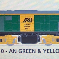800 class DC Powered - #015 Loco No 810 in AN GREEN & YELLOW - SOUTH AUSTRALIAN RAILWAYS:  SDS Models NOW AVAILABLE: Non Sound