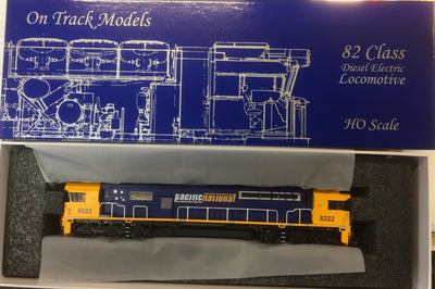 82 Class On Track Models: 8222 Pacific National Locomotive  DC READY NON SOUND