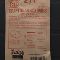 #211 Styrene Gearbox Shims 0.010in & 0.015in (HO)