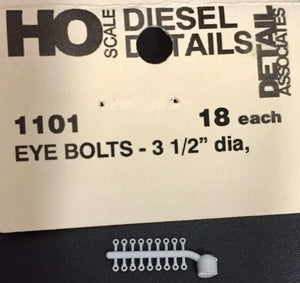 "DETAIL ASSOCIATED - 1101 - EYE BOLTS - 3-1/2"" dia. (pk of 19)"