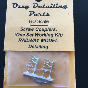 M. Ozzy Brass : HOOKS, Screw Couplings Un-assembled kit brass. #86