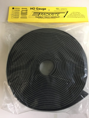 Trackrite: H505A Flexible Track Underlay 10m Lengths HO