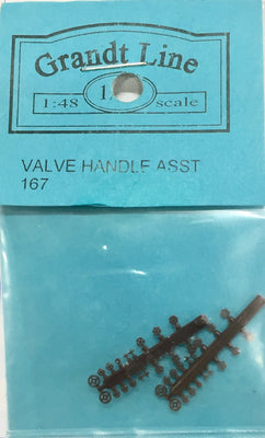 Valves  167 HO Valve Handles assorted 2 sets plastic