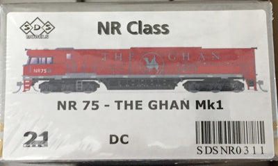 ALL NEW TOOLING The GHAN NR75 Mk1 LOCOMOTIVE BY SDS MODELS DC POWERED MODEL. #NR311