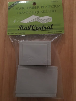 Rail Central: RC 1 NSWGR Station Timber Platform 1 Ramp/ 1 Square End RRP$6.95 SPECIAL $3.50