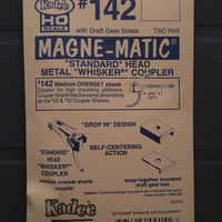 # 142 Whisker Metal Couplers Medium Overset (HO)