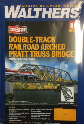 Walthers: Double-Track Railroad Arched Pratt Truss Bridge #933-4522