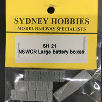 SH21 10ft BATTERY BOXES LARGE (4) AND CIRCUIT BOARDS (2) suits NSWGR PASSENGER CAR  (4)
