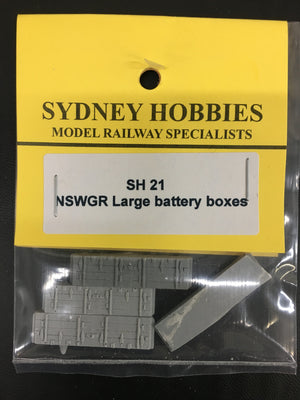 SH21 10ft BATTERY BOXES LARGE suits NSWGR PASSENGER CAR  (4)