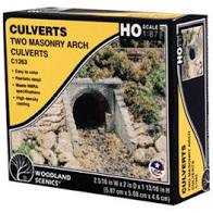 Woodland Scenics: C1263 TWO MASONRY ARCH CULVERTS - HO SCALE