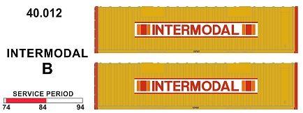 SDS Models: 40' Jumbo Containers: Twin Packs: Intermodal B : 40.012