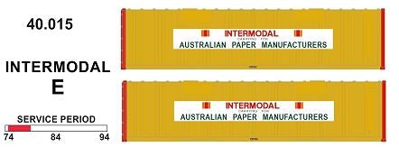 SDS Models: 40' Jumbo Containers: Twin Packs: Intermodal E : 40.015