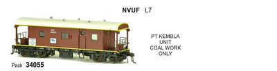JHG - NVUF SDS Models: Guards Van: NVUF34055 with L7 & PT Kembla Unit Coal Work Only