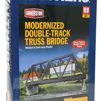 "Walthers: Modernized Double-Track Railroad Truss Bridge -- Kit - 15 x 5 x 4-1/2"" 38.1 x 12.7 x 11.4cm #933-4510"
