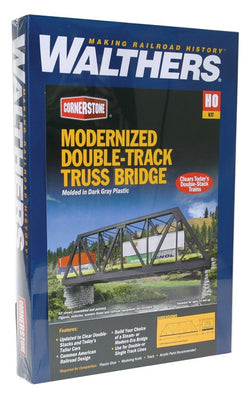 Walthers: Modernized Double-Track Railroad Truss Bridge -- Kit - 15 x 5 x 4-1/2