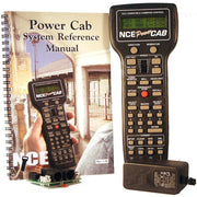NCE; POWER CAB An entire DCC system in the palm of your hand!  This system can handle 2 or 3  HO sized trains or 4 N scale trains.