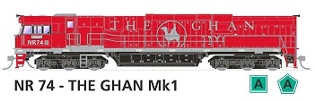 NR SOUND LOCOMOTIVE NR74 The GHAN Mk1 #510 NEW SDS MODEL NR WITH SOUND