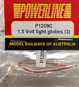 P1209C POWERLINE Parts 1.5 Volt Light Globes (3)
