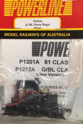 P1212A POWERLINE Parts. BL & G Class Power Bogie with Motor