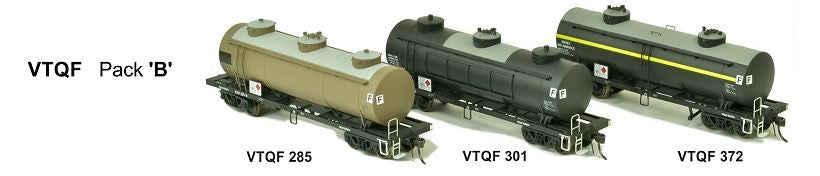 RRP $198 Save $59!!!: VTQF SDS Models: Vic Railways: 10000 Gallon Rail Tank Car: 3 x VTQF Pack B Weathered