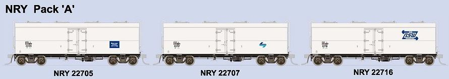 SDS Models: NSWPTC: NRY / NRNY  Ice Chilled Box Car: NRY: Pack A
