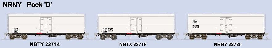 SDS Models: NSWPTC: NRY / NRNY  Ice Chilled Box Car: NRY: Pack D