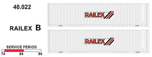SDS Models: 40' Jumbo Containers: Twin Packs: Railex B : 40.022
