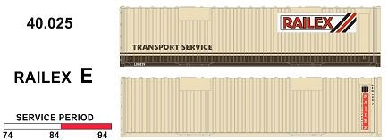 SDS Models: 40' Jumbo Containers: Twin Packs: Railex E : 40.025