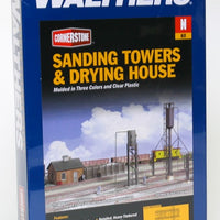Walthers: Sanding Tower & Drying House -- Kit 933-3813  Kit.''N SCALE